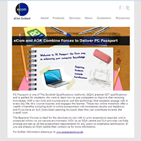 eCom Scotland HTML enewsletter design