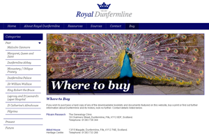 Royal Dunfermline - website design and development